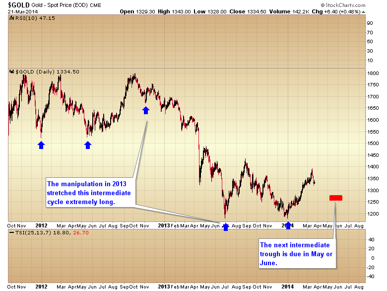 gold Intermediate cycle