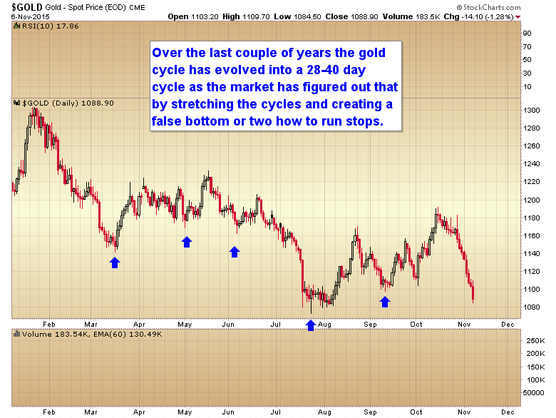 gold daily cycle